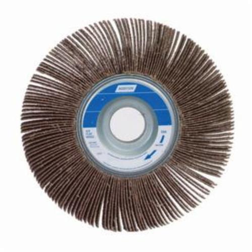 Merit® 08834121030 Sof-Tutch K-062 Type K Super Finish Coated Flap Wheel, 6 in Dia, 2 in W Face, P60 Grit, Coarse Grade, Aluminum Oxide Abrasive