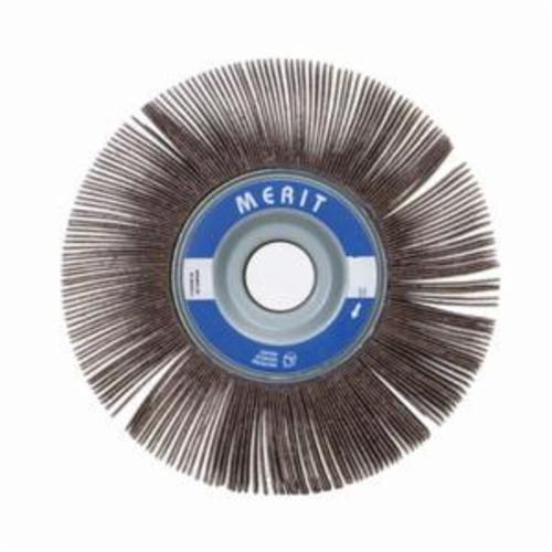 Merit® 08834121032 Sof-Tutch K-062 Type K Super Finish Coated Flap Wheel, 6 in Dia, 2 in W Face, P120 Grit, Medium Grade, Aluminum Oxide Abrasive