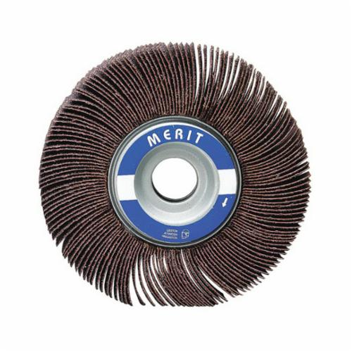 Merit® Grind-O-Flex™ 08834122035 XX-4010 High Performance Unmounted Coated Flap Wheel, 4 in Dia, 1 in W Face, P80 Grit, Medium Grade, Aluminum Oxide Abrasive