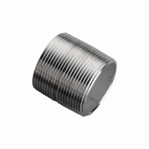 Merit Brass 4008-001 Pipe Nipple, 1/2 in x Close L MNPT, 304L Stainless Steel, SCH 40/STD, Welded, Domestic