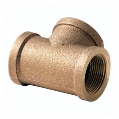 Merit Brass XNL106-12 Straight Pipe Tee, 3/4 in Nominal, FNPT End Style, 125 lb, Brass, Rough, Import