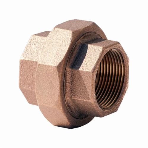 Merit Brass XNL187-40 Pipe Union, 2-1/2 in Nominal, FNPT End Style, 125 lb, Brass, Rough, Import
