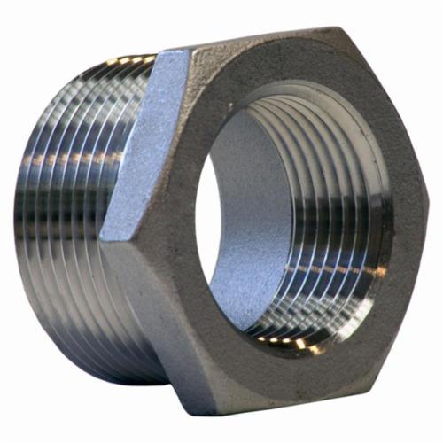 Merit Brass K414-1612 Hex Head Pipe Bushing, 3/4 x 1 in, FNPT x MNPT, 150 lb, 304/304L Stainless Steel, Import