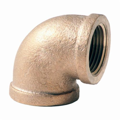 Merit Brass XNL101-12 Pipe Elbow, 3/4 in Nominal, FNPT End Style, 125 lb, Brass, Rough, Import