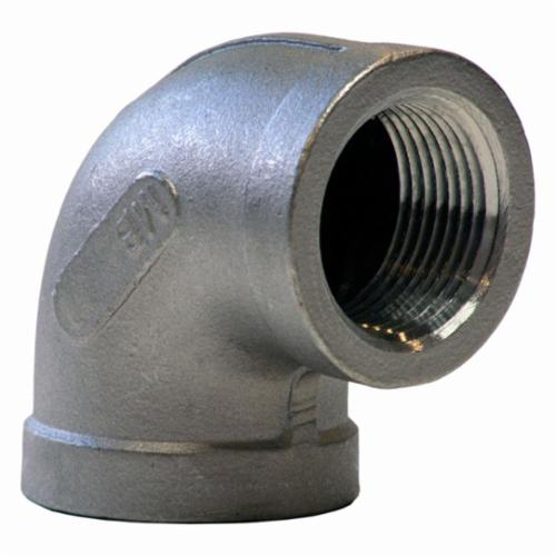Merit Brass K401-12 Banded Pipe 90 deg Elbow, 3/4 in, FNPT, 150 lb, 304/304L Stainless Steel, Import