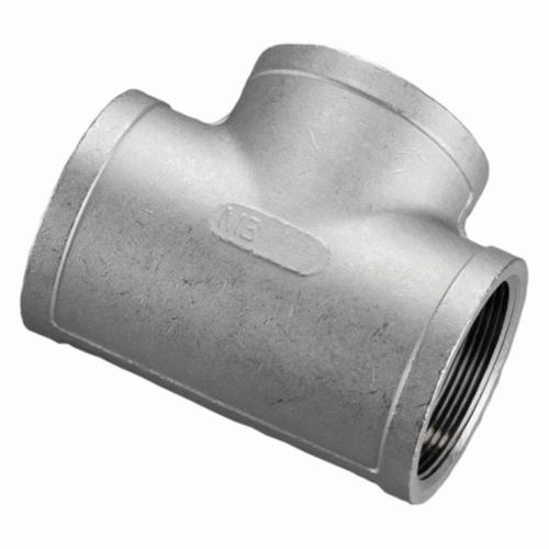 Merit Brass K406-12 Banded Pipe Tee, 3/4 in, FNPT, 150 lb, 304/304L Stainless Steel, Import