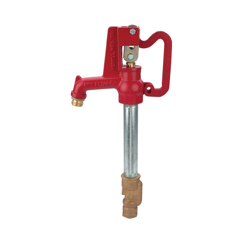 Merrill™ Any Flow® AF7501 Standard Frost-Proof Yard Hydrant, 3/4 in, NPT x Hose Threaded, 1 ft Bury, 45-1/2 in OAL, Lever Handle Shut-Off, Domestic