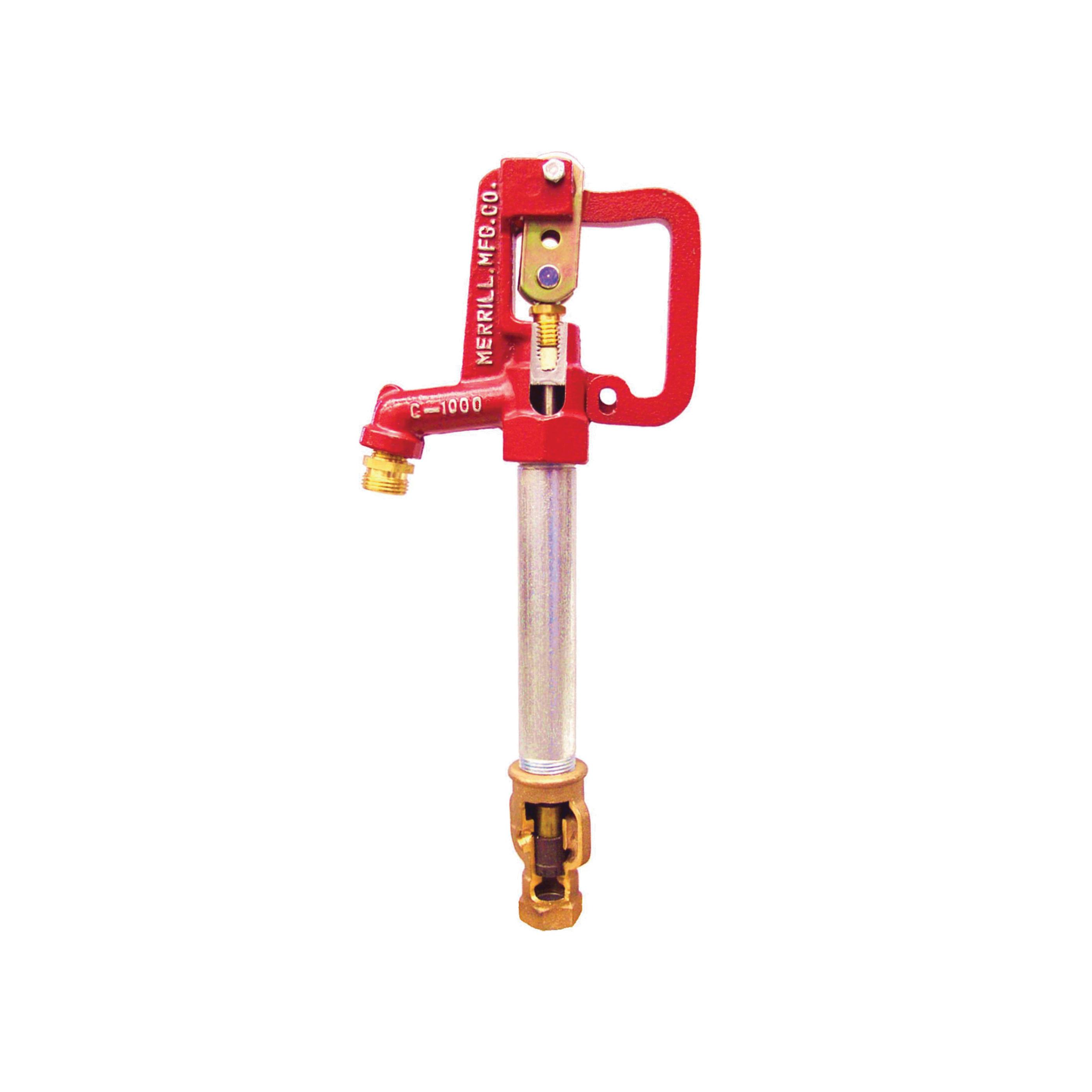 Merrill™ C7502 C-1000 Hi-Capacity Frost-Proof Yard Hydrant, 3/4 in, NPT x Hose Thread, 2 ft D Bury, 56-1/2 in OAL, Lever Handle Shut-Off, Domestic