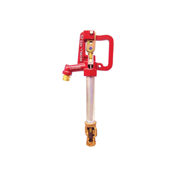 Merrill™ C-1000 C75015 Hi-Capacity Frost-Proof Yard Hydrant, 3/4 in, NPT x Hose Threaded, 1-1/2 ft Bury, 50-1/2 in OAL, Lever Handle Shut-Off, Domestic