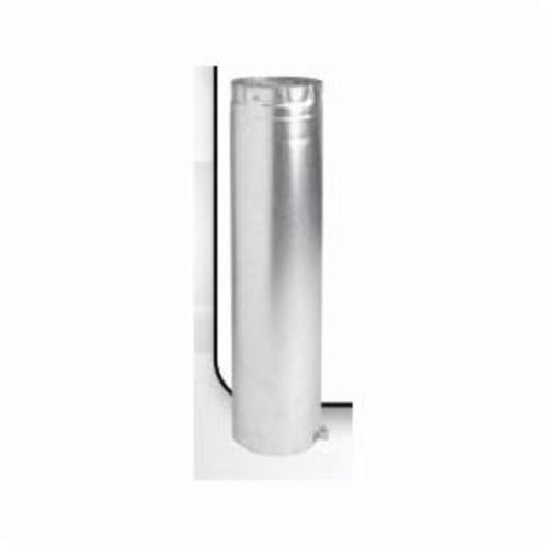 METAL-FAB® 4M12A M Series Type B Double Wall Round Gas Vent Pipe, Aluminum, 4 in ID Dia x 12 in Adjustable L, Domestic