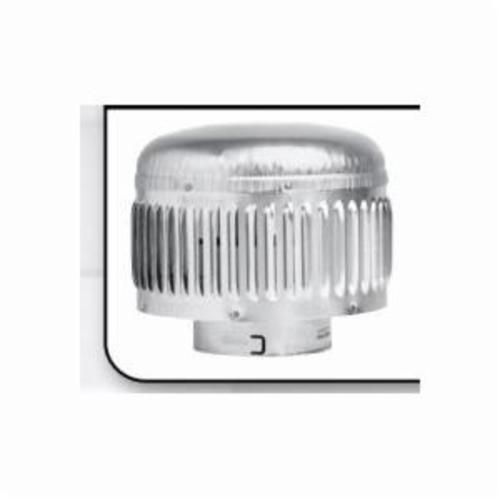 METAL-FAB® 3MCHP MCHP High Performance Round Vent Cap, Aluminum, Fits Duct Size: 3 in, 5-1/2 in W x 8.06 in H Cap, Domestic