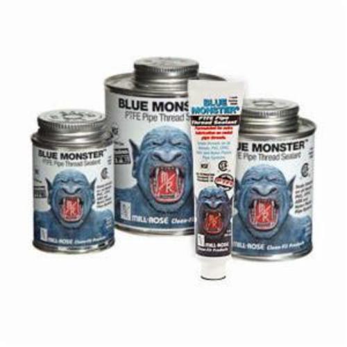 Cleanfit Blue Monster® 76011 Heavy Duty Industrial Grade Thread Sealant, 0.5 pt Can, Paste Form, Blue, 1.41