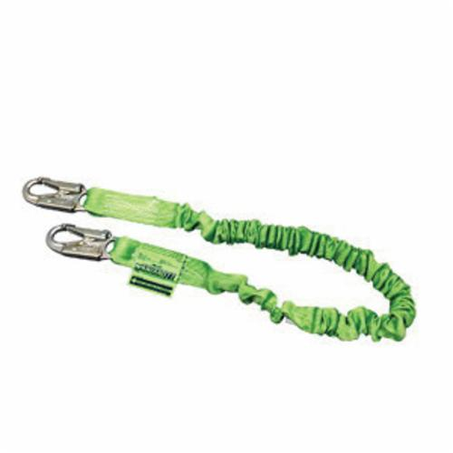 Miller® by Honeywell Manyard HP™ 216TWLS-Z7/6FTGN Shock Absorbing Lanyard, 310 lb Load Capacity, 6 ft L, Polyester Webbing Line, 1 Legs, Snap Hook Anchorage Connection, Snap Hook Harness Connection Hook