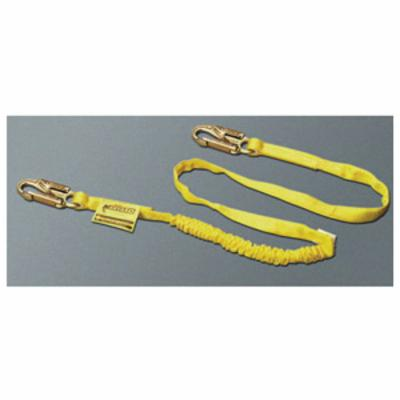 Miller® by Honeywell 231WRS-Z7/4FTYL Shock Absorbing Lanyard, 4 ft, Polyester Webbing Line, 2 Legs, Yellow