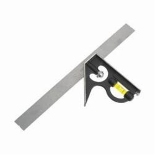 Empire® Polysquare™ 220 Combination Square, 12 in L Blade, 8ths, 16ths, 32nds Graduation, 90/45 deg, Polycast Beam/Steel Blade