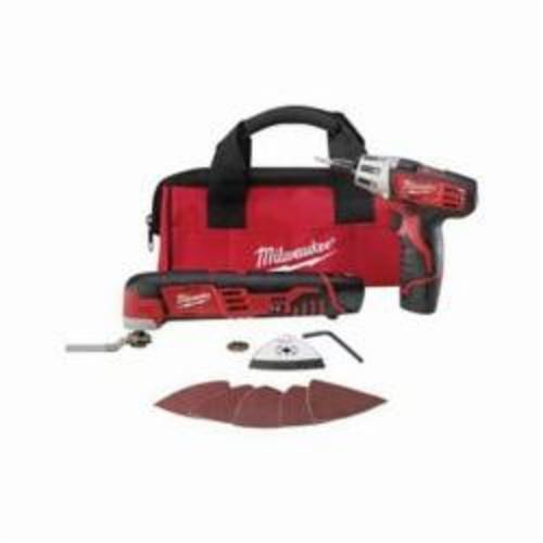 Milwaukee® M12™ 2496-22 2-Tool Cordless Combination Kit, Tools: Multi-Tool, Screwdriver, 12 V, 1.5 Ah Lithium-Ion Battery