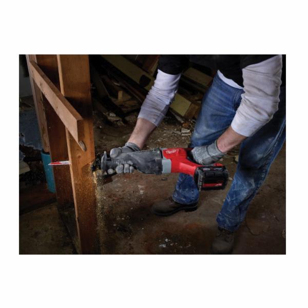 Milwaukee® M18™ SAWZALL™ 2621-22 Cordless Reciprocating Saw Kit, 1-1/8 in L Stroke, 3000 spm, In-Line Cut, 18 VDC, 19 in OAL