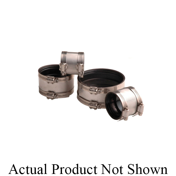 Mission 1802016 Standard Lightweight No-Hub Coupling, 2 in Nominal, Cast Iron End Style, Domestic