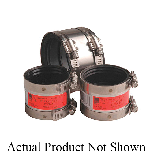 Mission Band-Seal® 0802728 CP Series Shielded Specialty Coupling, 2 in Nominal, Cast Iron/Plastic/Steel x Cast Iron/Plastic/Steel End Style, SCH 40/STD, Domestic