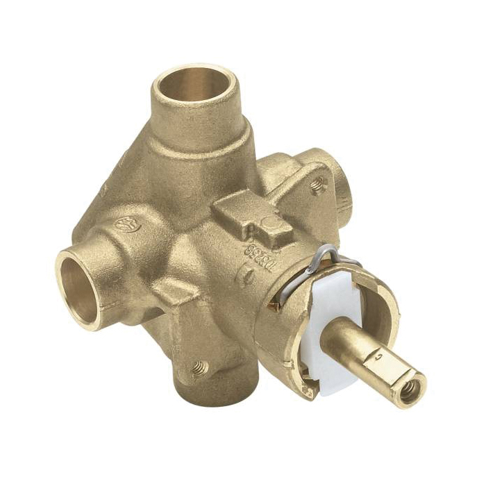 Moen® 2520 M-Pact® Rough-In Valve, 1/2 in C Inlet x 1/2 in C Outlet, Brass Body, Domestic