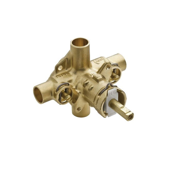 Moen® 2570 M-Pact® Rough-In Valve, 1/2 in C Inlet x 1/2 in C Outlet, 100 psi, Brass Body, Domestic