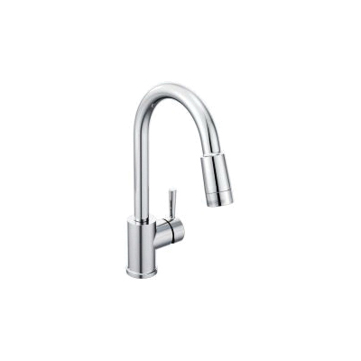 CFG 46201 Edgestone™ Pull-Down Kitchen Faucet, 1.5 gpm Flow Rate, Polished Chrome, 1 Handles, 1/3 Faucet Holes, Function: Traditional, Domestic, Residential