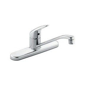 CFG CA40512 Cornerstone™ Kitchen Faucet, 1.5 gpm Flow Rate, Polished Chrome, 1 Handles, Import