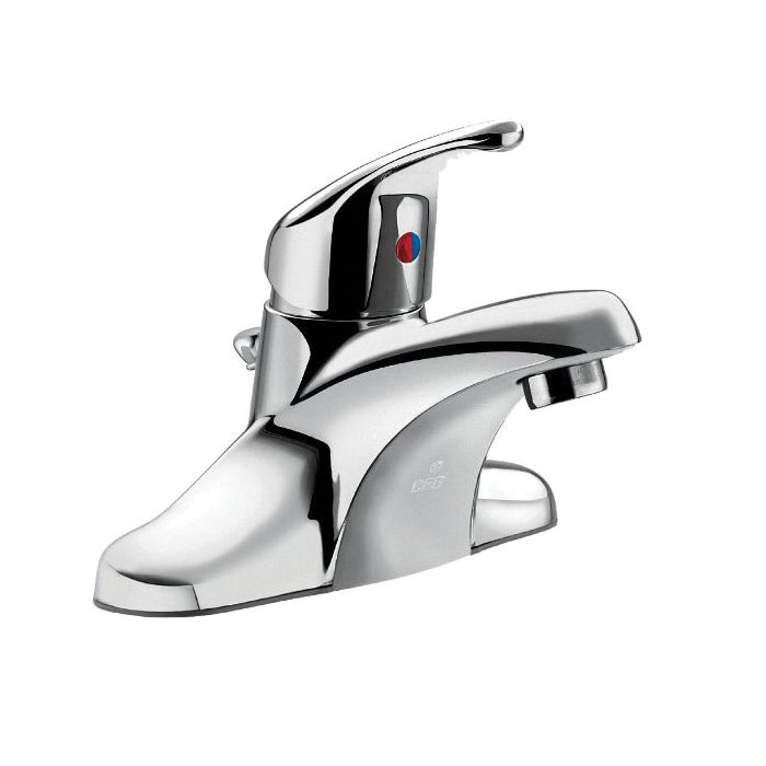 CFG CA40710 Cornerstone™ Centerset Bathroom Faucet, Polished Chrome, 1 Handles, Metal Pop-Up Drain, 1.2 gpm Flow Rate