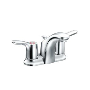 CFG CA42211 Baystone™ Centerset Bathroom Faucet, Polished Chrome, 2 Handles, 50/50 Pop-Up Drain, 1.2 gpm Flow Rate