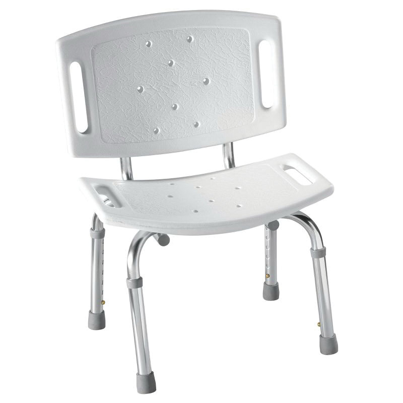 Moen® DN7030 Adjustable Tub/Shower Chair, Home Care®, 12 in H, Aluminum Legs, Import