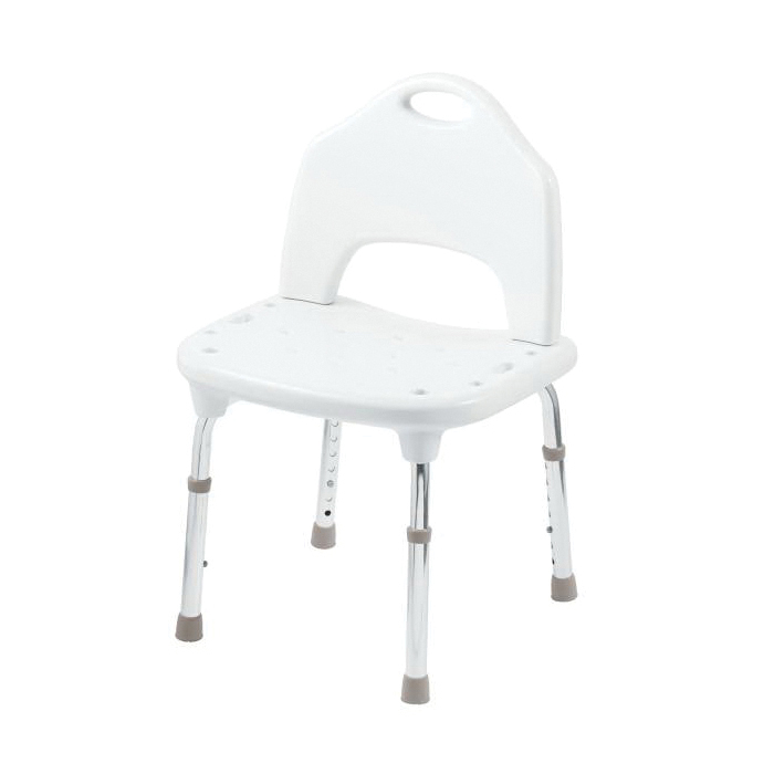 Moen® DN7060 Adjustable Shower Chair, Home Care®, 15 to 21 in H x 22 in W Seat, 300 lb Load, Import