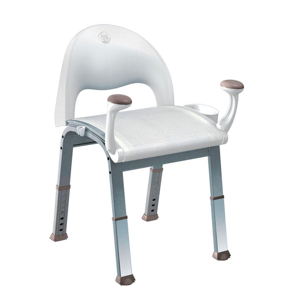 Moen® DN7100 Premium Shower Chair, Home Care®, 19 in W Seat, Aluminum Legs, Import