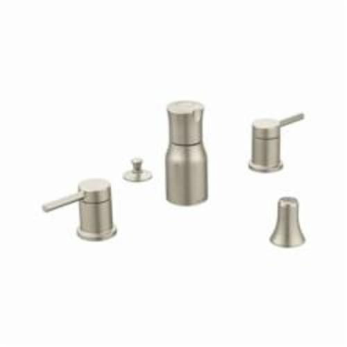 Moen® T5191BN Bidet Faucet, Align™, 1.5 gpm, 8 to 16 in Center, Brushed Nickel, 2 Handles, Pop-Up Drain, Domestic