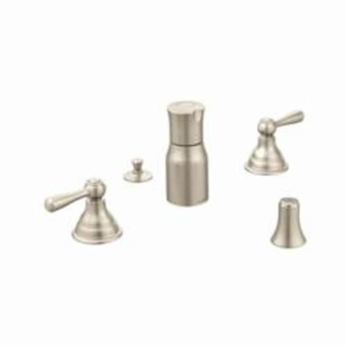 Moen® T5210BN Kingsley® Bidet Faucet, 6 to 16 in Center, Brushed Nickel, 2 Handles, Pop-Up Drain, Domestic