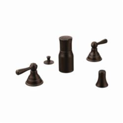 Moen® T5210ORB Bidet Faucet, Kingsley®, 6 to 16 in Center, Oil Rubbed Bronze, 2 Handles, Pop-Up Drain, Import