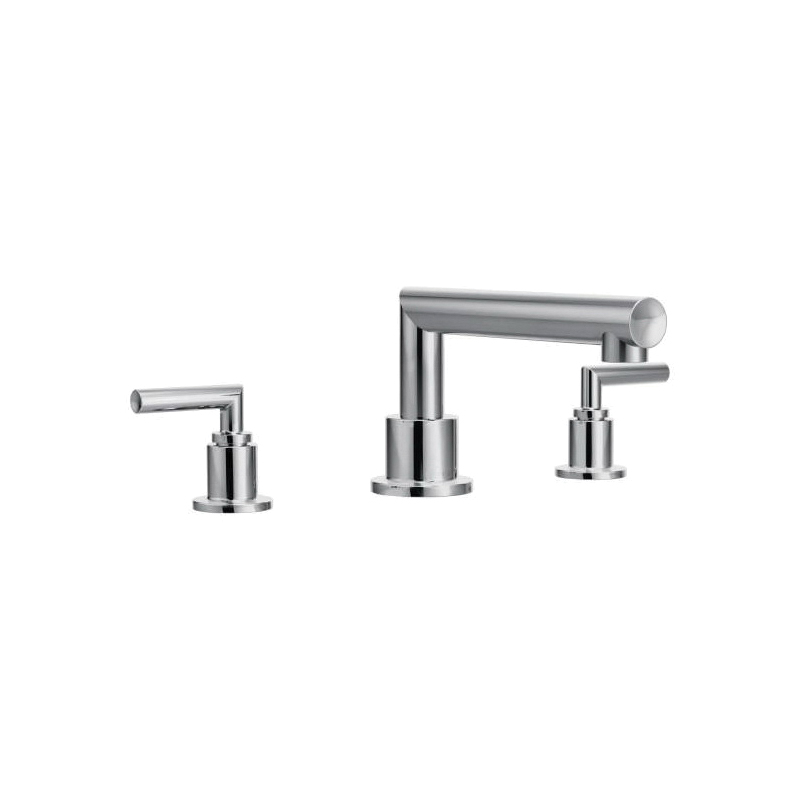 Moen® TS93003 Arris™ Roman Tub Faucet, 10 in Center, Polished Chrome, 2 Handles, Function: Traditional, Domestic