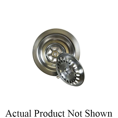 Mountain Plumbing Products MT300/CPB Deluxe Stemball Kitchen Sink Strainer, 3-1/2 in Nominal, Polypropylene, Polished Chrome