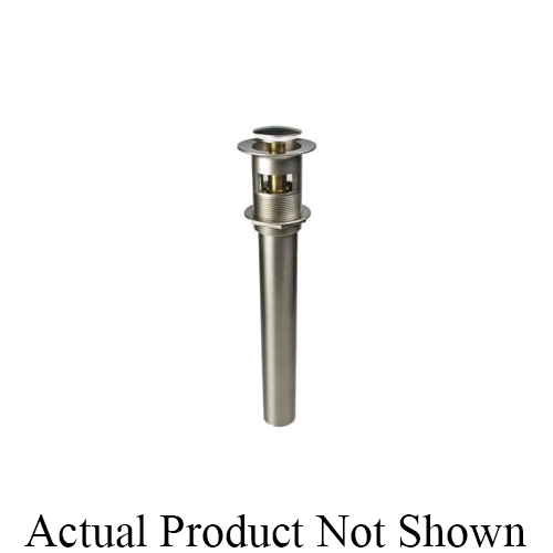 Mountain Plumbing Products MT741/CPB Soft Touch Round Lavatory Drain, 2-1/2 in Nominal, Polished Chrome, Brass Drain