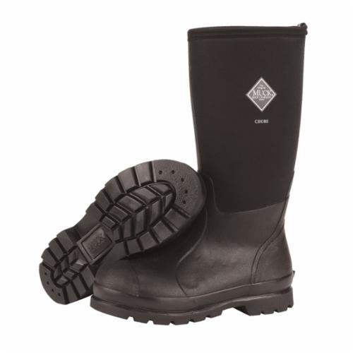 Muck® by Honeywell ASP-000A/10 ASP-EU High Performance Sport Boots, Men's, SZ 10, 17 in H, Plain Toe, Natural Rubber Upper, Natural Rubber Outsole, Resists: Water, ASTM Approved