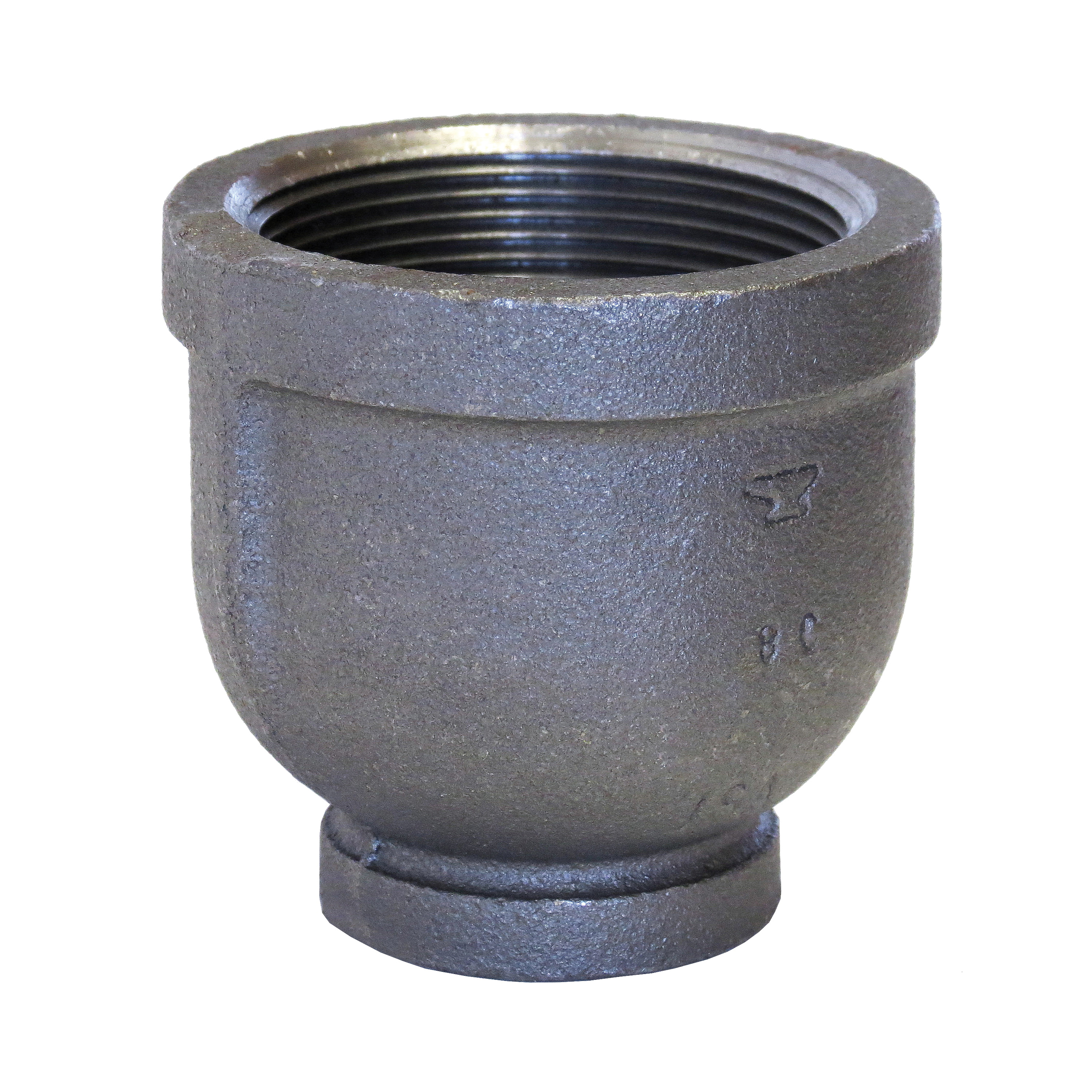 Anvil® 0811092618 Pipe Reducing Coupling, 4 x 3 in Nominal, 150 lb, Malleable Iron, Galvanized, Import