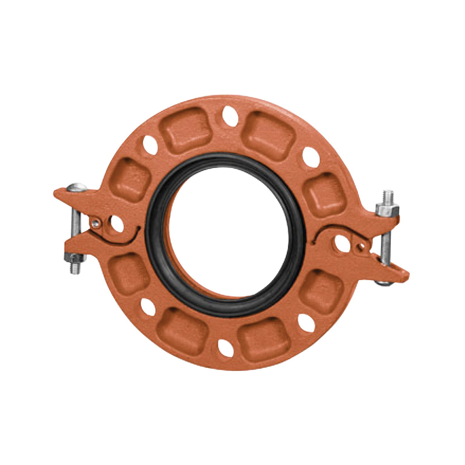 Gruvlok® 0390201002 FIG 7012 Pipe Flange With Grade E EPDM Gasket, 2 in Nominal, Ductile Iron, Grooved Connection, Domestic