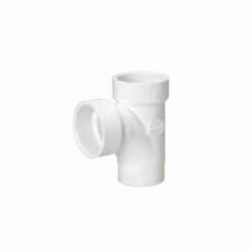 Streamline® 06112 Sanitary Street Tee, 1-1/2 in, Spigot x Hub x Hub, SCH 40/STD, PVC, Domestic