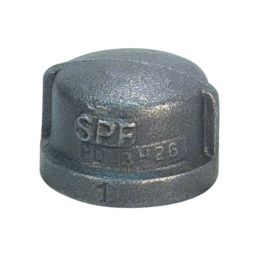 Anvil® 0819901018 Cap, 4 in Nominal, Malleable Iron, Galvanized, Domestic
