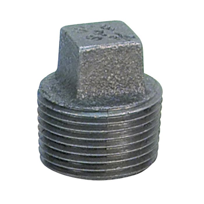 Anvil® 0819902610 FIG 2122 Square Head Solid Plug, 2-1/2 in Nominal, MNPT End Style, Steel, Galvanized, Domestic