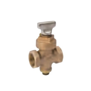 ProLine™ 105-905NL Stop and Drain Valve With Ground Key, 1 in, FNPT, Bronze Body