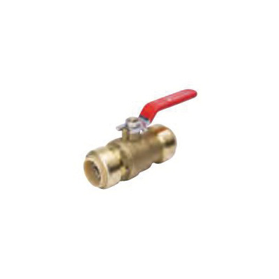 ProLine™ 107-065 7690 Premium Ball Valve, 1 in Nominal, Push-Fit End Style, Forged Brass Body, Full Port, PTFE Softgoods