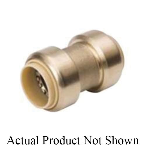 ProLine™ 630-003 Standard Coupling, 1/2 in Nominal, Push-Fit End Style, Brass