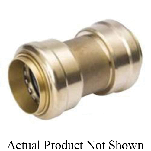 ProLine™ 630-008 Standard Coupling, 2 in Nominal, Push-Fit End Style, Brass