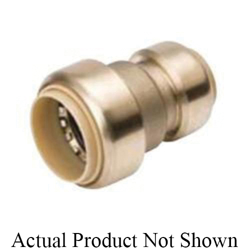 ProLine™ 630-043 Reducing Coupling, 3/4 x 1/2 in Nominal, Push-Fit End Style, Brass