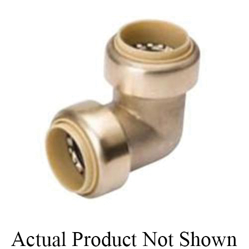 ProLine™ 631-004 Standard Elbow, 3/4 in Nominal, Push-Fit End Style, Brass